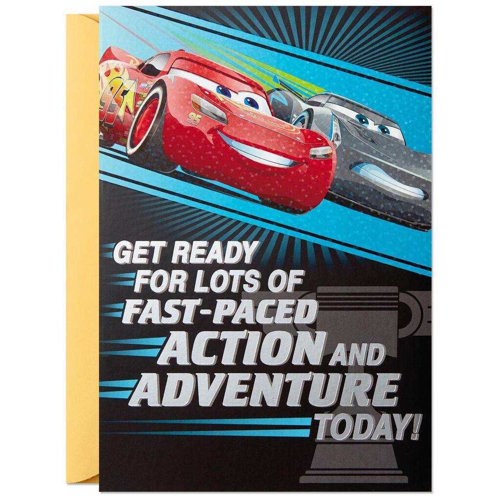 Disney Pixar Cars Vroom Pop Up Birthday Card