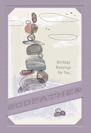 Stack of Rocks Birthday Card for Godfather