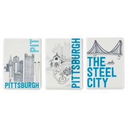 Pittsburgh Magnets, Ceramic Set of 3, , large