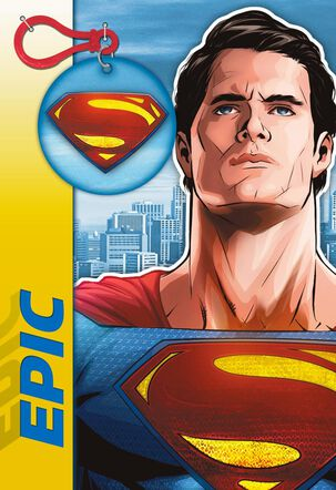Superman™ You Rock! Card With Backpack Clip