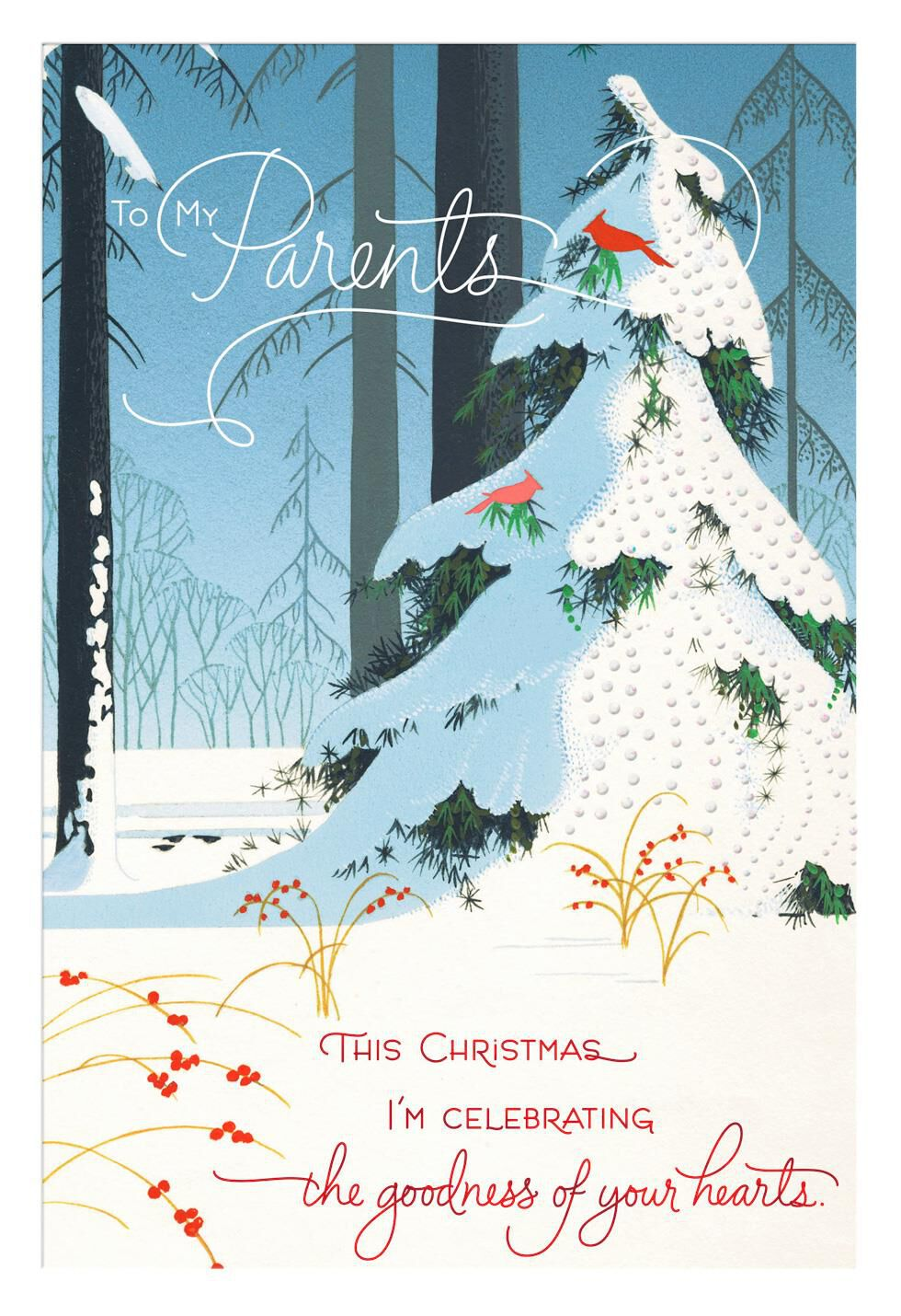 Celebrating Goodness Christmas Card For Parents Greeting Cards