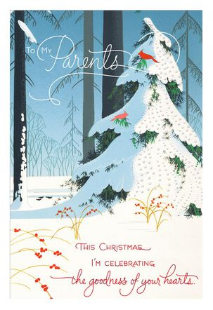 Celebrating Goodness Christmas Card for Parents
