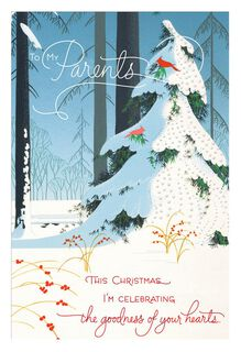 Celebrating Goodness Christmas Card for Parents,