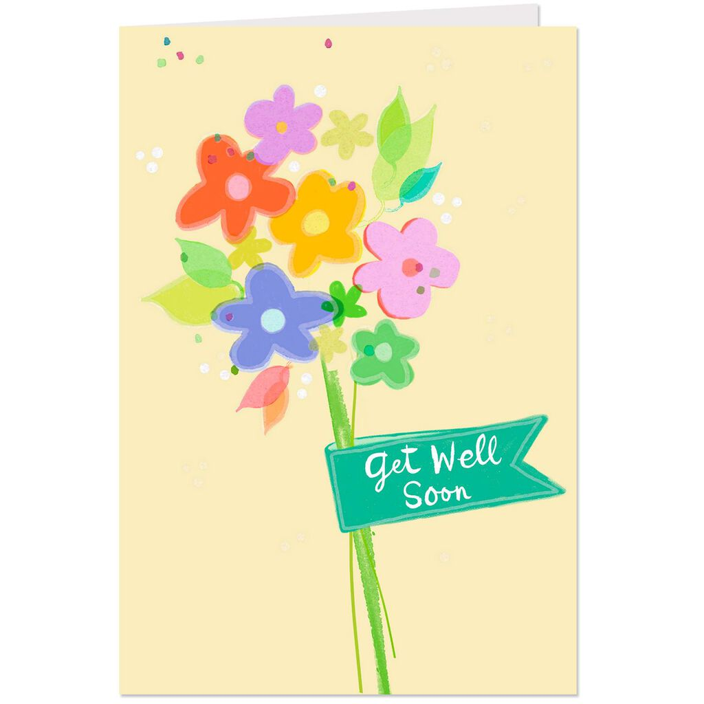 Colorful Flowers Get Well Cards Pack Of 10 Boxed Cards Hallmark