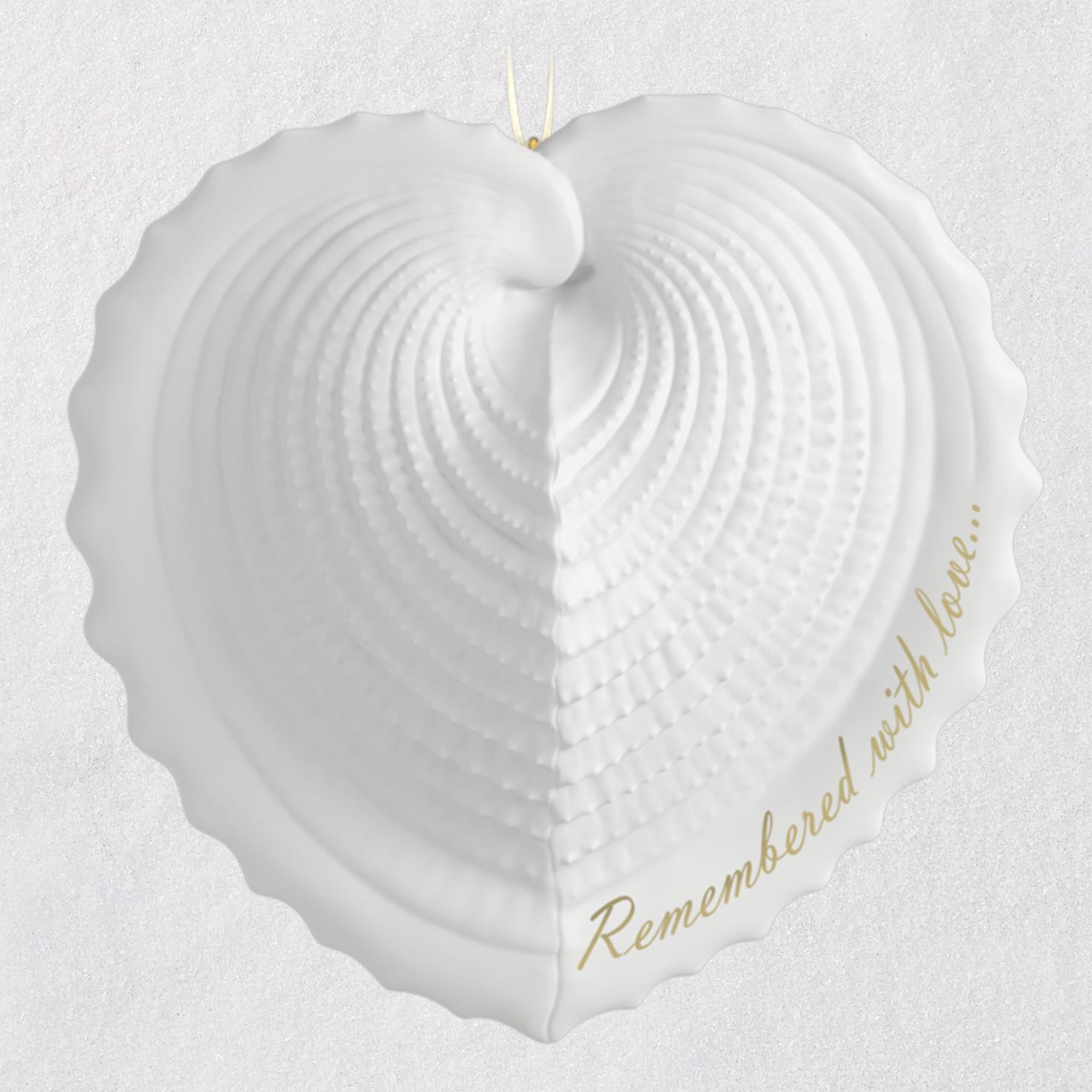 Remembered With Love Memorial 2018 Porcelain Ornament - Keepsake ...