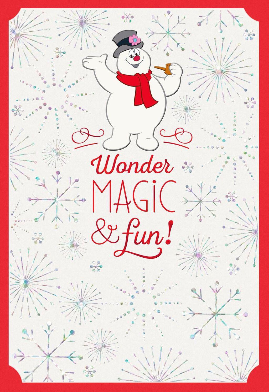 Frosty The Snowman Wonder Magic Fun Christmas Card Greeting