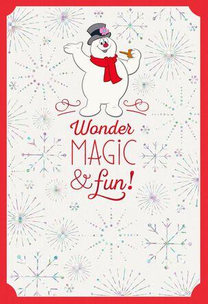 FROSTY THE SNOWMAN™ Wonder, Magic & Fun Christmas Card