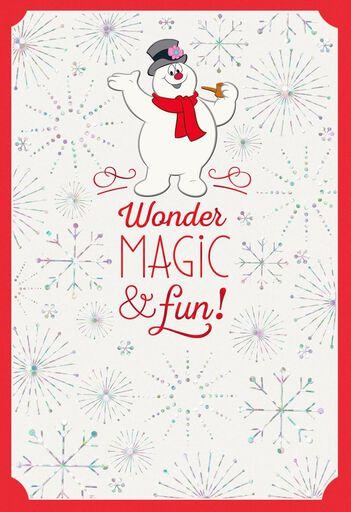 Christmas cards holiday greeting cards hallmark frosty the snowman wonder magic fun christmas card m4hsunfo
