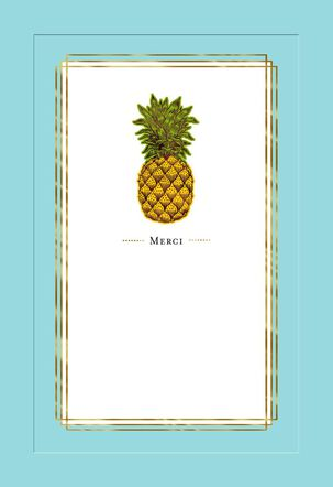 Pineapple Merci Thank You Card