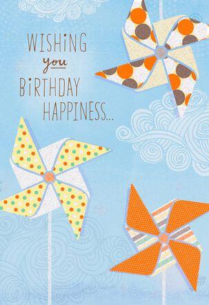 Pinwheels that Keep You Smiling Birthday Card