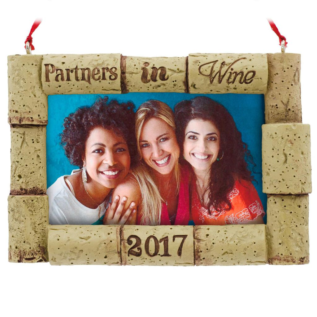 Partners in Wine 2017 Picture Frame Hallmark Ornament - Gift ...