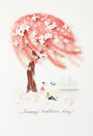 Weeping Willow Tree Mother's Day Card for Wife