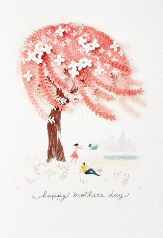 Weeping willow tree mothers day card for wife greeting cards weeping willow tree mothers day card for m4hsunfo