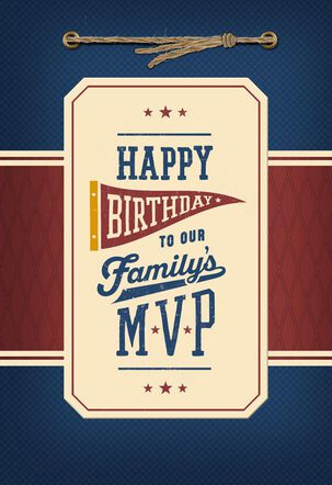 Family MVP Birthday Card