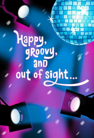 Disco Inferno Musical Birthday Card With Motion