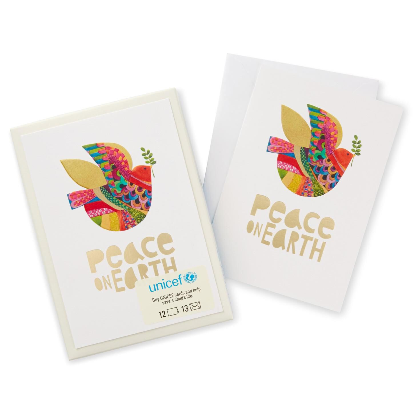 UNICEF Peace on Earth Christmas Cards, Box of 12 - Boxed Cards ...