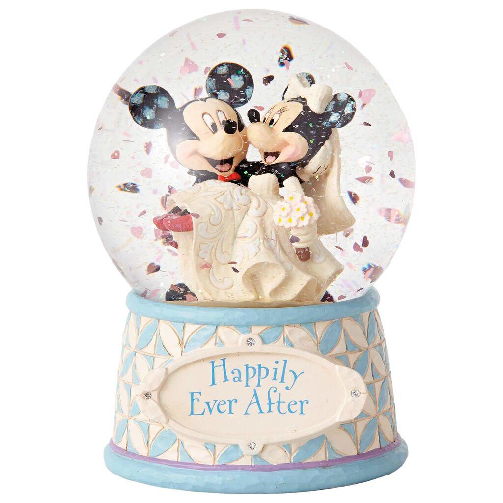 Mickey And Minnie Wedding.Jim Shore Mickey And Minnie Wedding Snow Globe