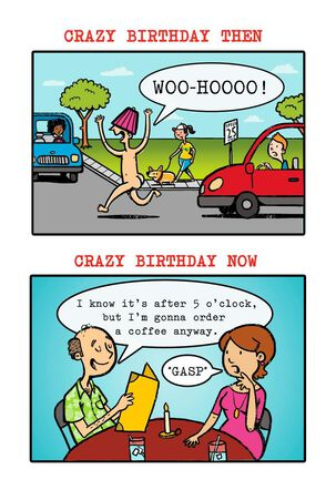 Crazy Birthday Wishes Greeting Card