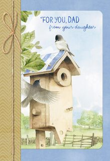 Marjolein Bastin Birdhouse Father's Day Card From Daughter,
