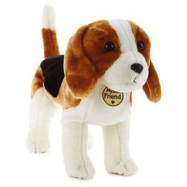 Tricolored Hound Dog Large Stuffed Animal, , large