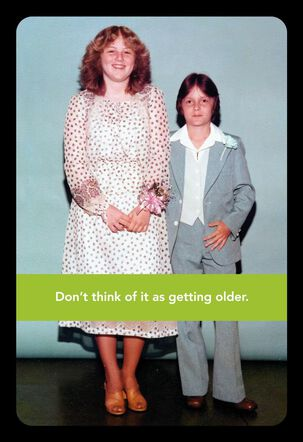 Safe Distance Aging Funny Birthday Card