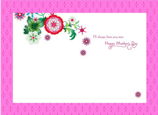 Jewel Blossoms Mother's Day Card,