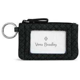 Vera Bradley Iconic Zip ID Case in Denim Navy, , large