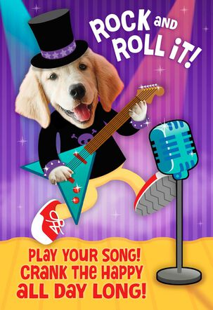 Crank the Happy Musical Birthday Card