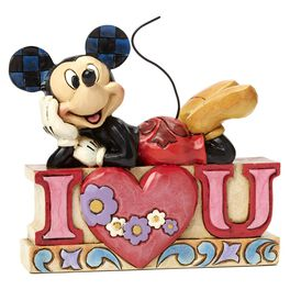 Jim Shore I Love You—Mickey Mouse Figurine, , large