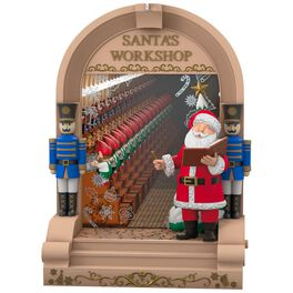 Santa's Workshop Mirror Musical Ornament With Light, , large