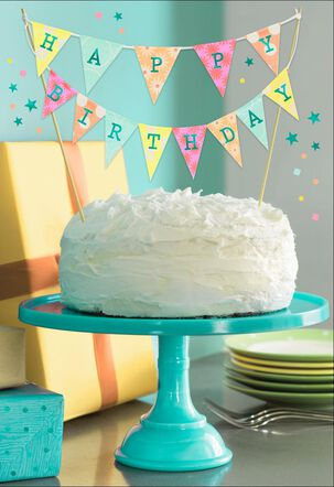 Celebration Time Cake and Banner Birthday Card
