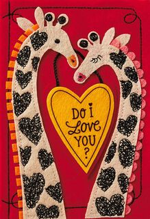 Giraffe Love Valentine's Day Card for Special Someone,