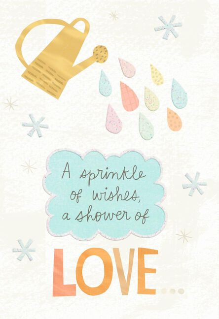 sprinkle of wishes baby shower card - Baby Shower Cards
