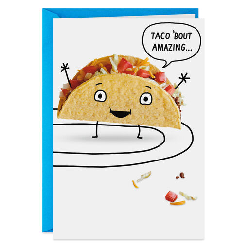 Taco Bout Amazing Funny Birthday Card