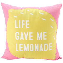 "Life Gave Me Lemonade Decorative Pillow, 20"", , large"