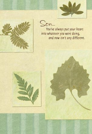 Green Leaves Father's Day Card for Son