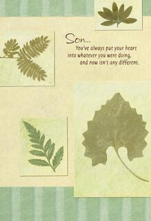Green Leaves Father's Day Card for Son,