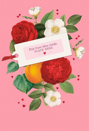 Flowers Pick-a-Title Valentine's Day Card for Grandma