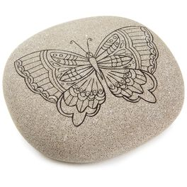 Butterfly DIY Coloring Rock, , large