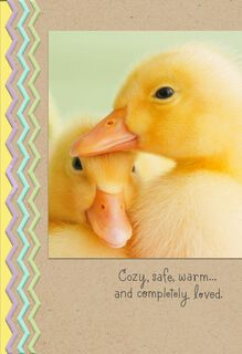 Ducklings Feeling Loved Easter Card,