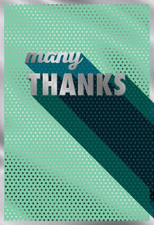 Many Many Many Thank You Card