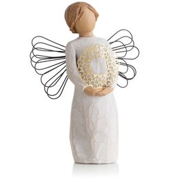 Willow Tree® Angel With Heart Wreath Hospitality Figurine, , large