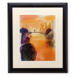 Couple on Bridge 20x24 Print With Matted Frame, , large