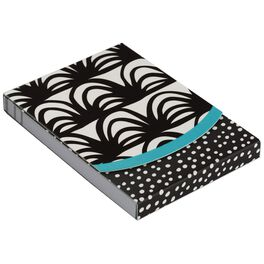 Black and White Curves Notepad, 75 Sheets, , large