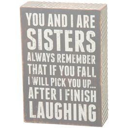 "Primitives by Kathy ""Sisters Always"" Wood Box Sign, , large"