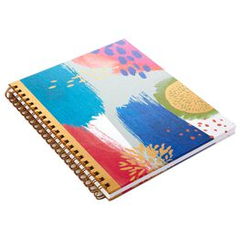 Abstract Foil Spiral Notebook, , large