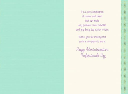 Your Humor and Heart Admin Professionals Day Card,