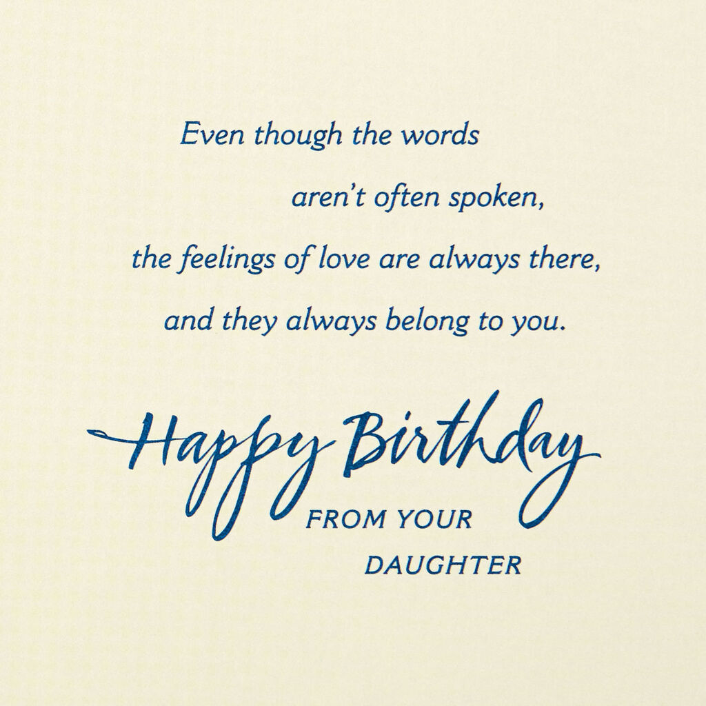 Love For You Birthday Card Dad From Daughter