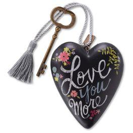 "Love You More Art Heart Sculpture, 4"", , large"