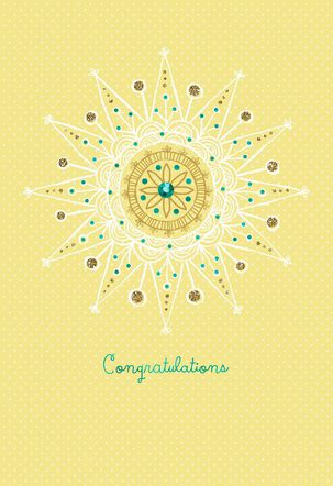 Sunshine Mandala New Baby Card